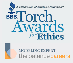 Better Business Bureau Ethics Award Winner TheBalanceCareers Modeling Expert